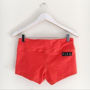 FLEO Orange Spandex Shorts